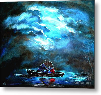 Surviving The Storm Metal Print by Leslie Allen