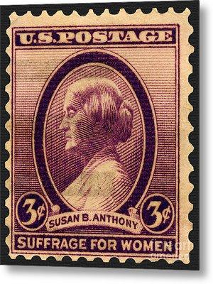 Susan B. Anthony Commemorative Postage Stamp Metal Print by Phil Cardamone