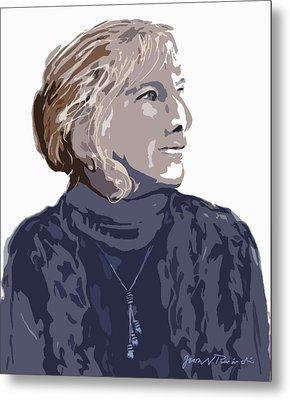 Metal Print featuring the painting Susan R. by Jean Pacheco Ravinski