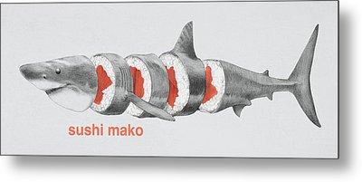 Sushi Mako Metal Print
