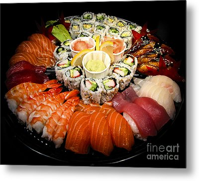 Sushi Party Tray Metal Print by Elena Elisseeva