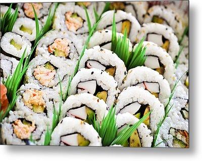 Sushi Platter Metal Print by Elena Elisseeva