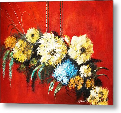 Metal Print featuring the painting Suspended Bouquet by Al Brown
