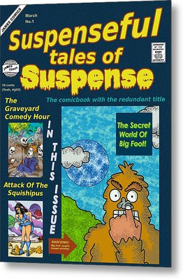Suspenseful Tales Of Suspense No.1 Metal Print by James Griffin