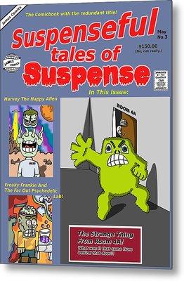 Suspenseful Tales Of Suspense No.3 Metal Print by James Griffin