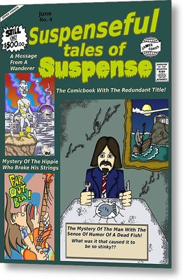 Suspenseful Tales Of Suspense No.4 Metal Print by James Griffin