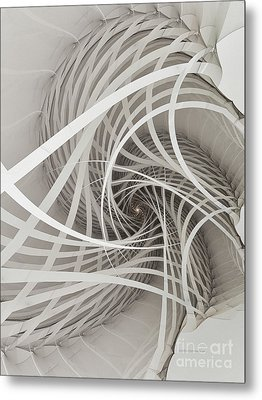 Suspension Bridge-fractal Art Metal Print by Karin Kuhlmann