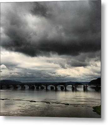 Susquehanna River Bridge Metal Print