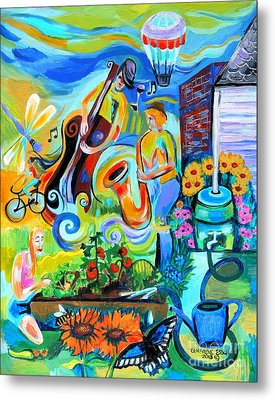 Dogtown Street Musicians Festival Metal Print by Genevieve Esson