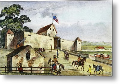Sutter's Fort, 1849 Metal Print by Granger