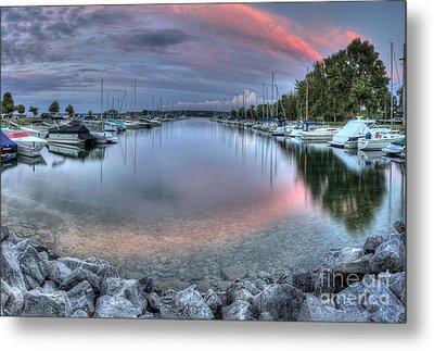 Sutton's Bay Marina Metal Print by Twenty Two North Photography