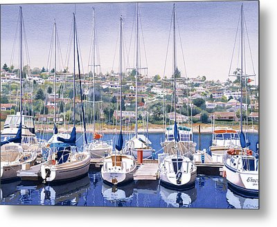 Sw Yacht Club In San Diego Metal Print