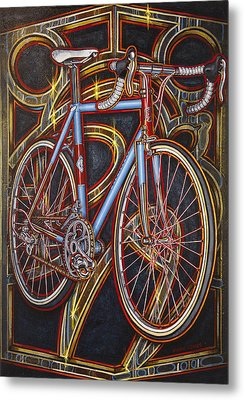 Swallow Bespoke Bicycle Metal Print