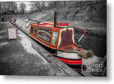 Swallow Canal Boat Metal Print by Adrian Evans