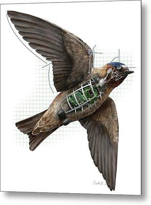 Swallow Drone Robotics Metal Print by Nicolle R. Fuller
