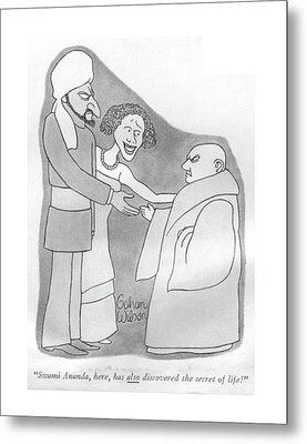 Swami Ananda Metal Print by Gahan Wilson
