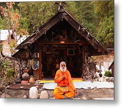 Swami Sundaranand At Tapovan Kutir 3 Metal Print by Agnieszka Ledwon