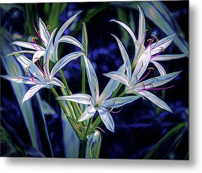 Metal Print featuring the photograph Swamp Lilies by Steven Sparks