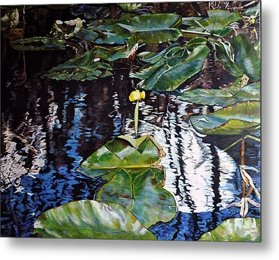 Swamp Lilly Metal Print by Dottie Branchreeves