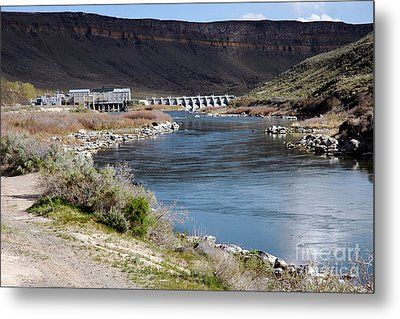 945a Swan Falls Dam Snake River Birds Of Prey Area Metal Print