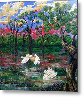 Swan Heaven Metal Print by Susan McLean Gray