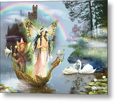 Swan Lake Fairy Metal Print by Zorina Baldescu