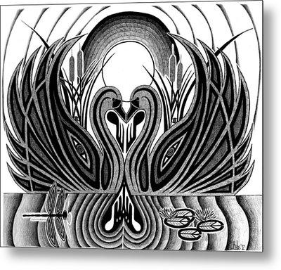 Swan Song  Metal Print by Barb Cote