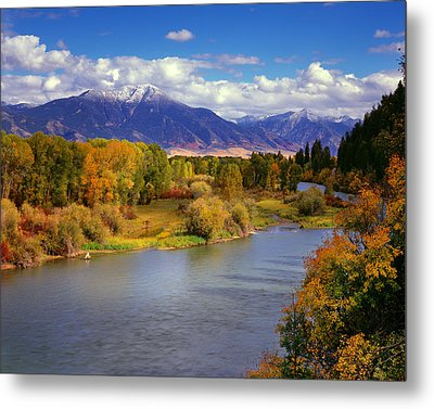 Swan Valley Autumn Metal Print by Leland D Howard