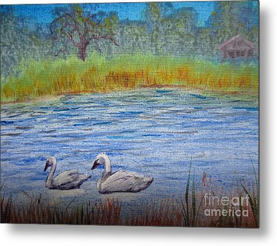 Swans Metal Print by Laurianna Taylor