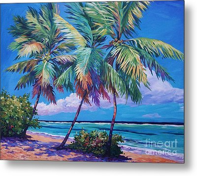 Swaying Palms  Metal Print by John Clark