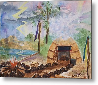 Sweat Lodge Metal Print
