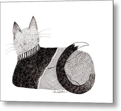Sweater Cat Metal Print