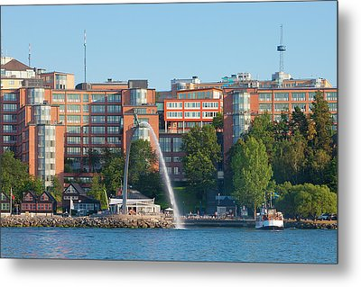 Sweden, Stockholm - Modern Offices Metal Print by Panoramic Images