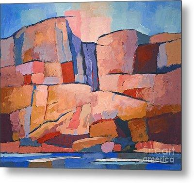 Swedish Cliffs Metal Print by Lutz Baar