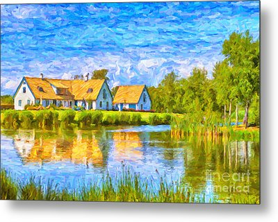 Swedish Lakehouse Metal Print by Antony McAulay