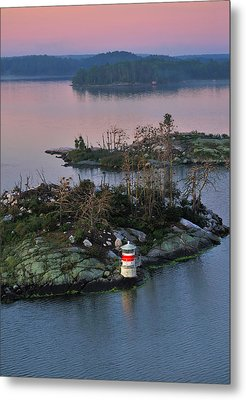 Swedish Lighthouse At Dawn Metal Print by Marianne Campolongo