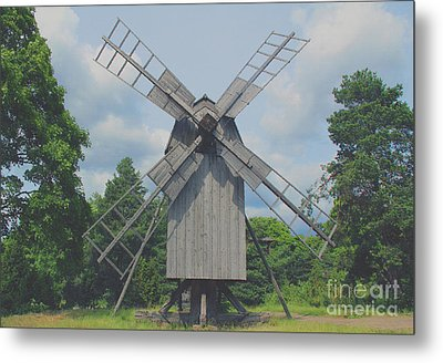 Metal Print featuring the photograph Swedish Old Mill by Sergey Lukashin