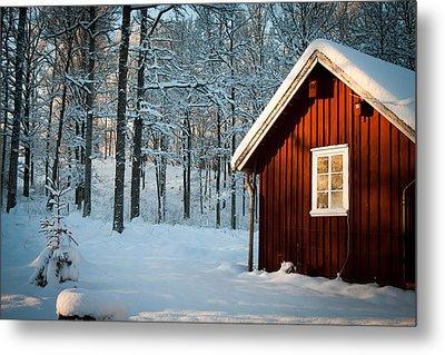 Swedish Winter Metal Print by Robert Hellstrom
