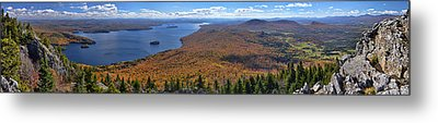 Metal Print featuring the photograph Sweeping Fall Panorama Over Lake Memphremagog by Sebastien Coursol