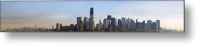 Sweeping Panorama Of New York City Before Sunset Metal Print by Sebastien Coursol