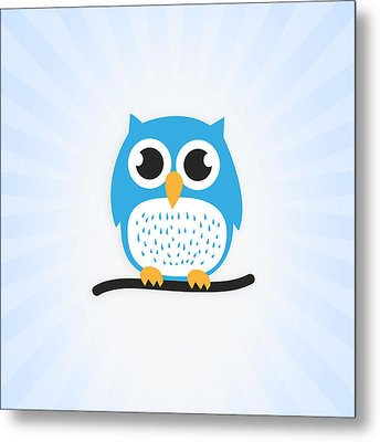 Sweet And Cute Owl Metal Print