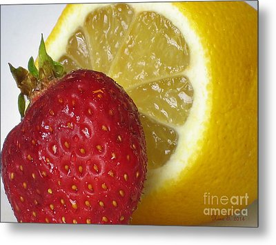 Metal Print featuring the photograph Sweet And Sour by Nina Silver