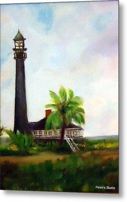 Sweet Charlie Lighthouse Metal Print