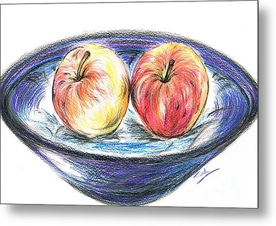 Sweet Crunchy Apples Metal Print by Teresa White