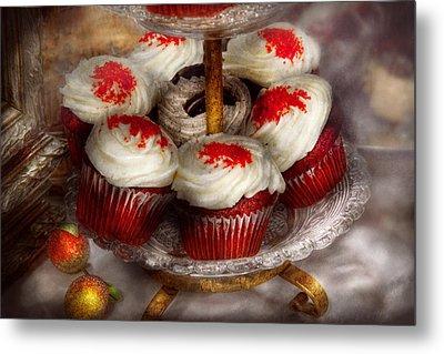 Sweet - Cupcake - Red Velvet Cupcakes  Metal Print by Mike Savad
