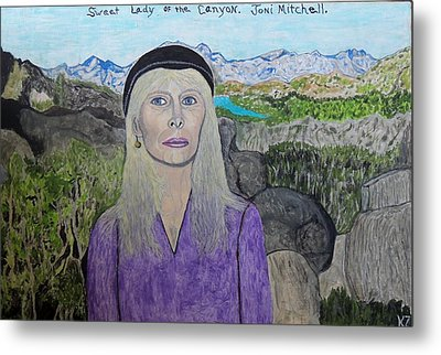 Sweet Lady Of The Canyon. Metal Print