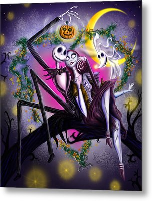 Sweet Loving Dreams In Halloween Night Metal Print