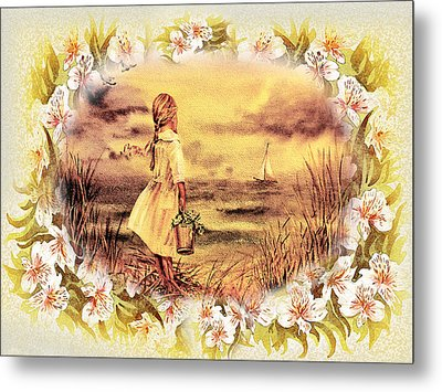 Metal Print featuring the painting Sweet Memories A Trip To The Shore by Irina Sztukowski