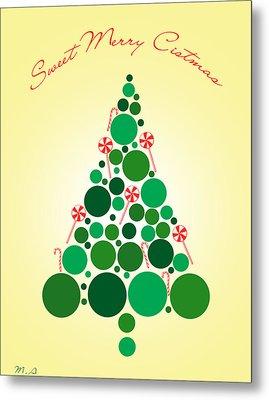 Sweet Merry Christmas Metal Print by Mark Ashkenazi