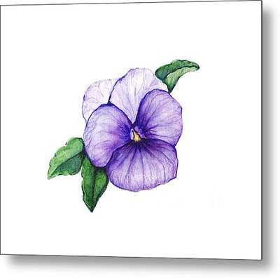 Metal Print featuring the painting Sweet Pansy by Heidi Kriel